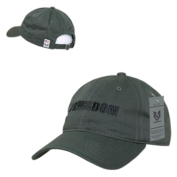 A03 - Freedom USA Flag Cap - Relaxed Cotton - Olive Drab - U.S. Military  Hats.com 43ca27b8f17