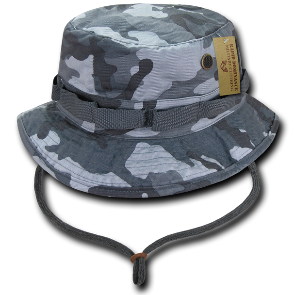 R70 - Vintage Washed Jungle Boonie Hat - 100% Cotton - Urban Camouflage