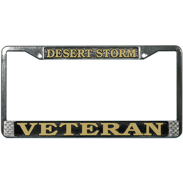 Desert Storm Veteran License Plate Frame Made In Usa