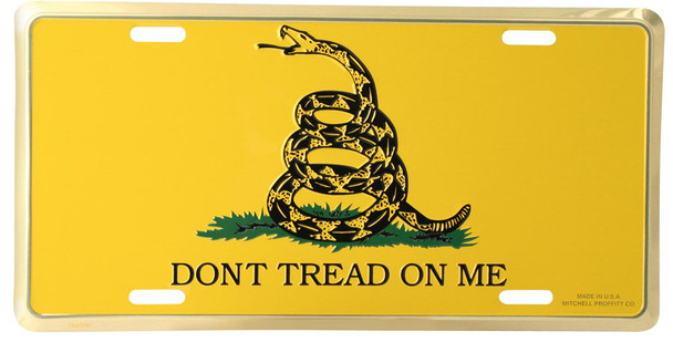L53 - Dont Tread On Me License Plate - Made in USA
