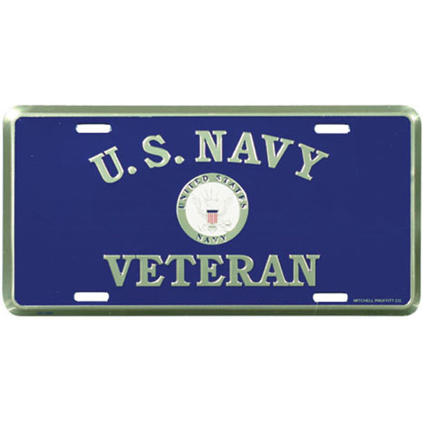 LN55 - U.S. Navy Veteran License Plate - Made in USA