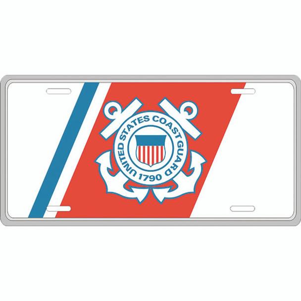 LCG02 - U.S. Coast Guard License Plate - Made in USA