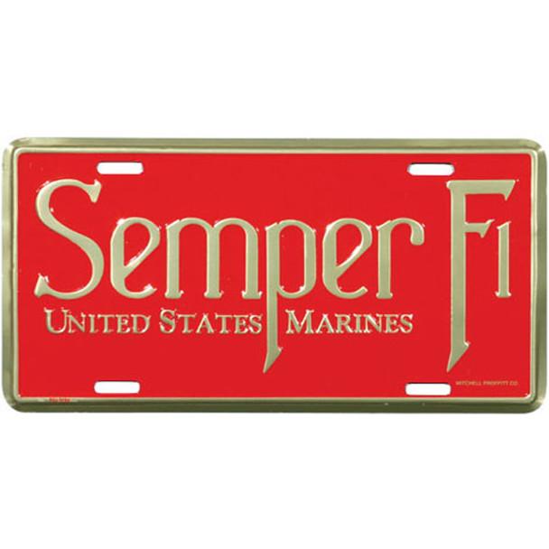 LM20 - U.S. Marines Semper Fi License Plate - Made in USA