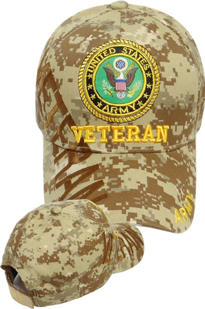 U.S. Army Veteran Cap Shadow - Desert Digital Camo