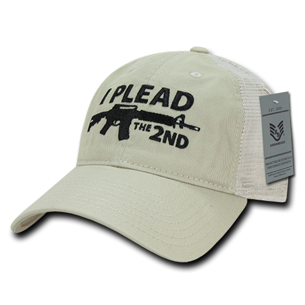 A05 - I Plead The 2nd Cap - Relaxed Cotton & Trucker Mesh - Stone