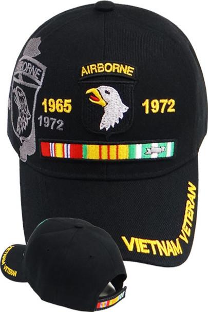 101st Airborne Vietnam Veteran Shadow Cap - Black