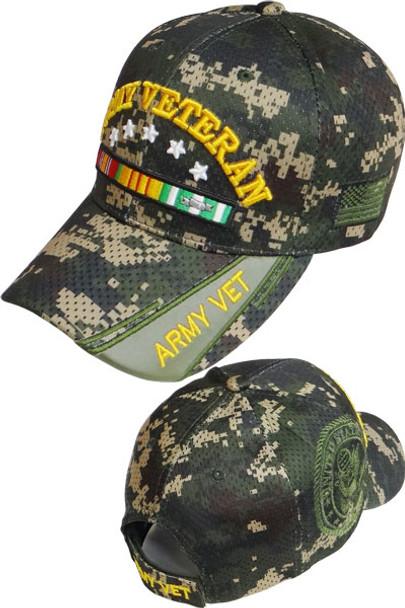 6eb6832d7ba U.S. Army Vietnam Veteran Cap - Air Mesh - Digital Woodland Camo ...