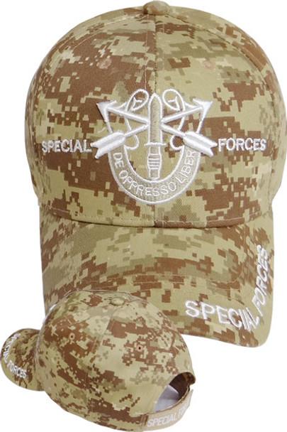 Special Forces Cap - De Oppresso Liber - Desert Digital Camo