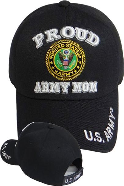 9ca59d9f91f U.S. Army Proud Army Mom Cap - Black - U.S. Military Hats.com