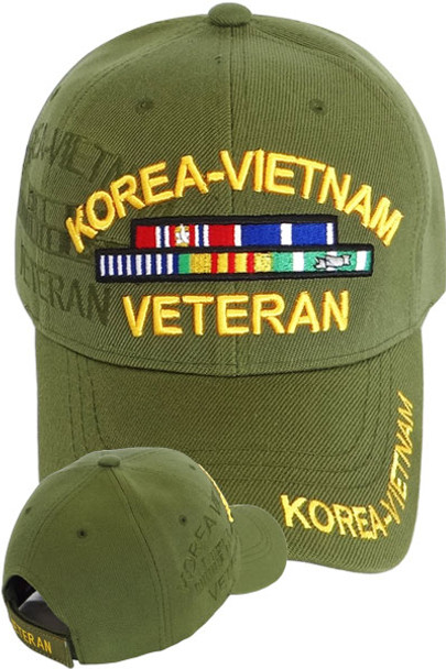Korea Vietnam Veteran Shadow Cap - Olive