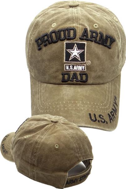 850ff780610 U.S. Army Cap Proud Army Dad - Washed Cotton - Khaki ...