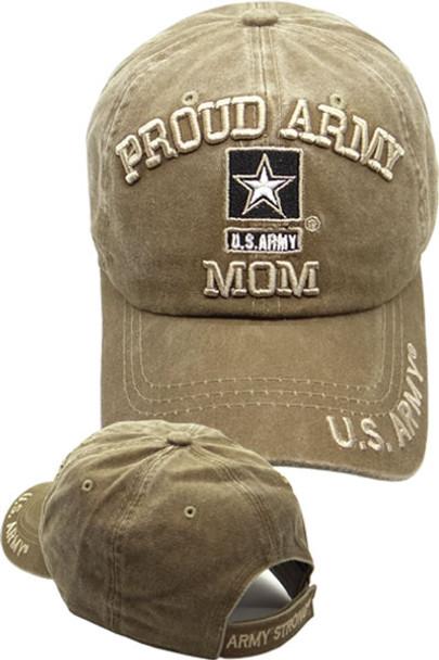 8a4ffe65558 U.S. Army Cap Proud Army Mom - Washed Cotton - Khaki ...