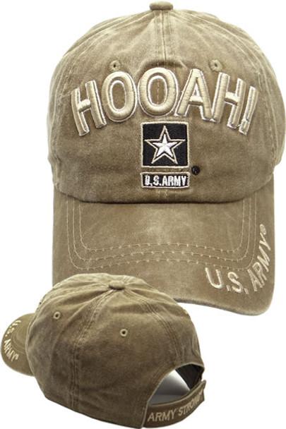 U.S. Army Cap Hooah - Washed Cotton - Khaki - U.S. Military Hats.com a484a44673c
