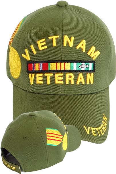 Vietnam Veteran Medal Cap - Olive - USMILITARYHATS.COM 6dc6e5fc498e