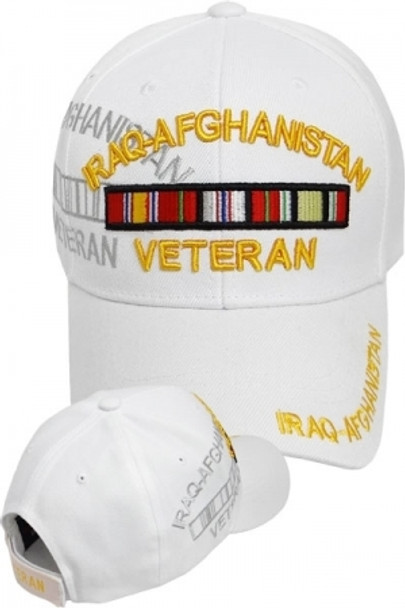 Iraq-Afghanistan Veteran Shadow Cap - White