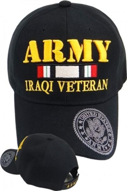 U.S. Army Iraqi Veteran Cap - Black