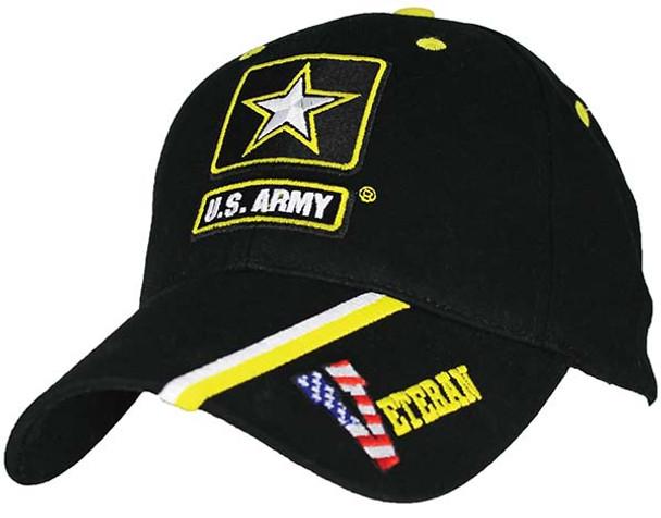 6616 - U.S. Army Veteran Cap - Cotton - Black