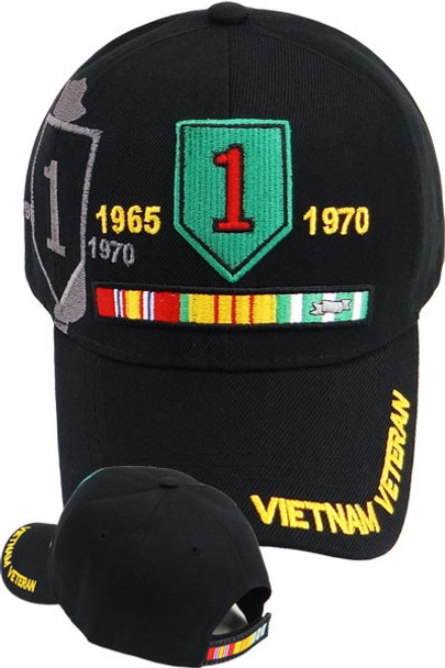 1st Infantry Division Vietnam Veteran Cap - Black
