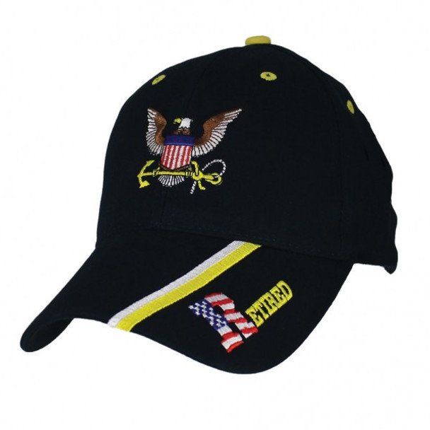 6619 - U.S. Navy Retired Cap - Cotton - Dark Blue