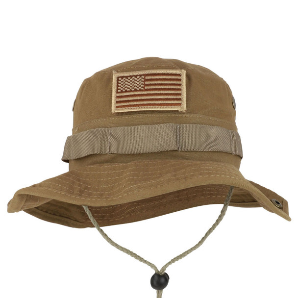 6771 - 100% Cotton Eagle Crest Boonie Hat - OSFM - Coyote