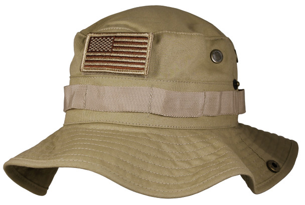 6772 - 100% Cotton Eagle Crest Boonie Hat - OSFM - Khaki