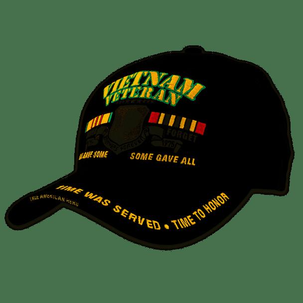 BK2940 - Vietnam Veteran Cap - Cotton - Black