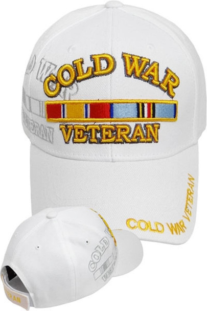 Cold War Veteran Cap Ribbon Shadow - White