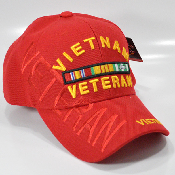 caccb407d Vietnam Veteran Cap Shadow - Red