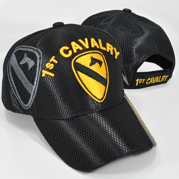 1st Cavalry Cap Mesh - Black - USMILITARYHATS.COM ebf95b49cdb9