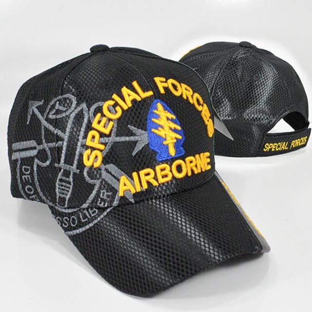 Special Forces Airborne Cap Mesh- Black