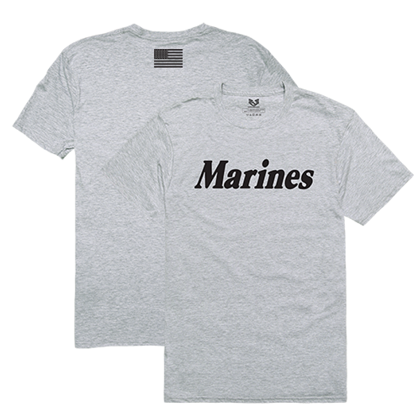 RS2 - Relaxed Graphic T-Shirt - U.S. Marines - Heather Grey