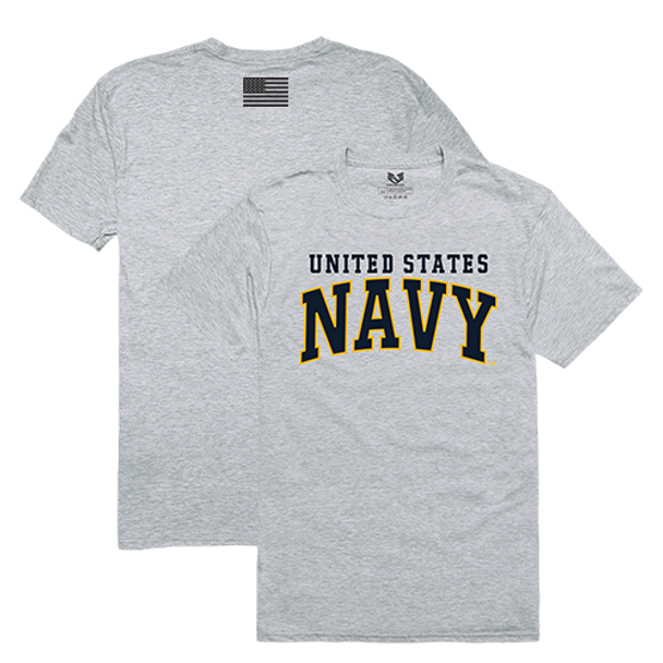 RS2 - Relaxed Graphic T-Shirt - U.S. Navy - Heather Grey