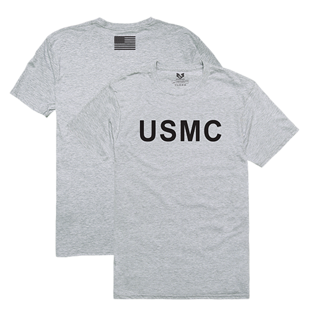 RS2 - Relaxed Graphic T-Shirt - USMC - Heather Grey