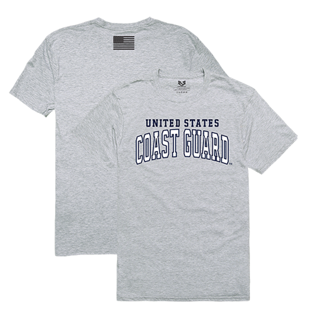 RS2 - Relaxed Graphic T-Shirt - U.S. Coast Guard - Heather Grey