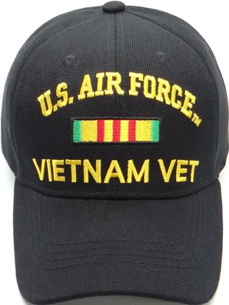 U.S. Air Force Vietnam Veteran Cap - Black