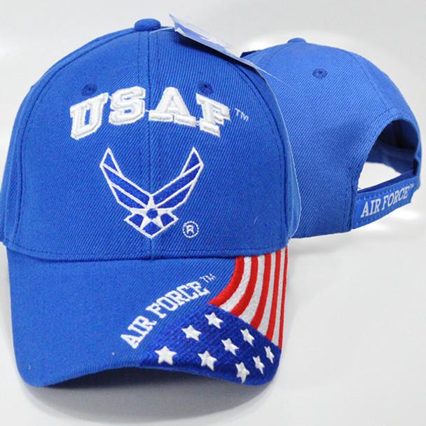U.S. Air Force Cap - USA Flag Bill - Blue