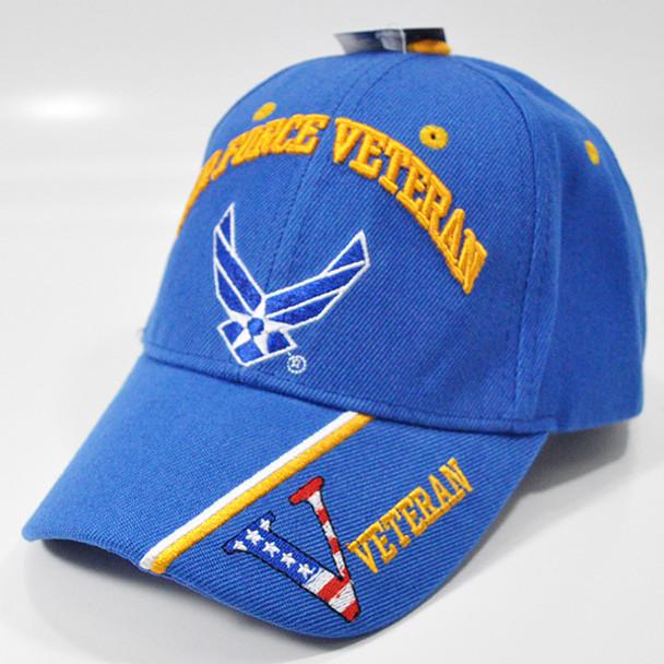 U.S. Air Force Veteran Cap - Wings Logo - Blue