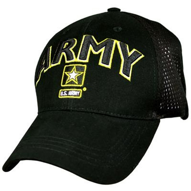 6839 - U.S. Army Cap - Cotton Air Mesh - Black