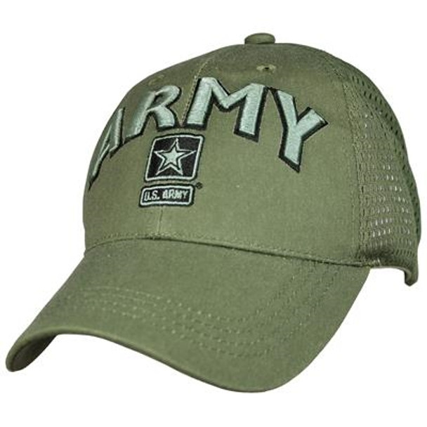 6840 - U.S. Army Cap - Cotton Air Mesh - OD Green
