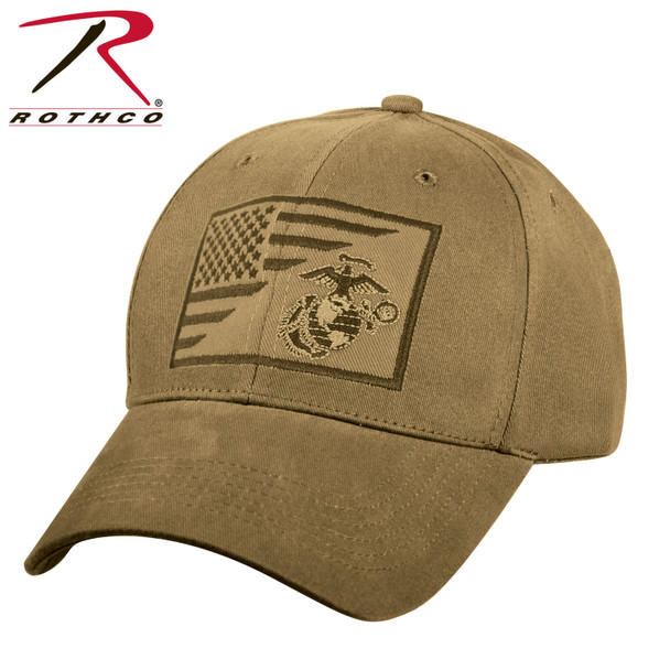 Rothco USMC Cap Flag EGA Low Profile Cotton (Item #7185)
