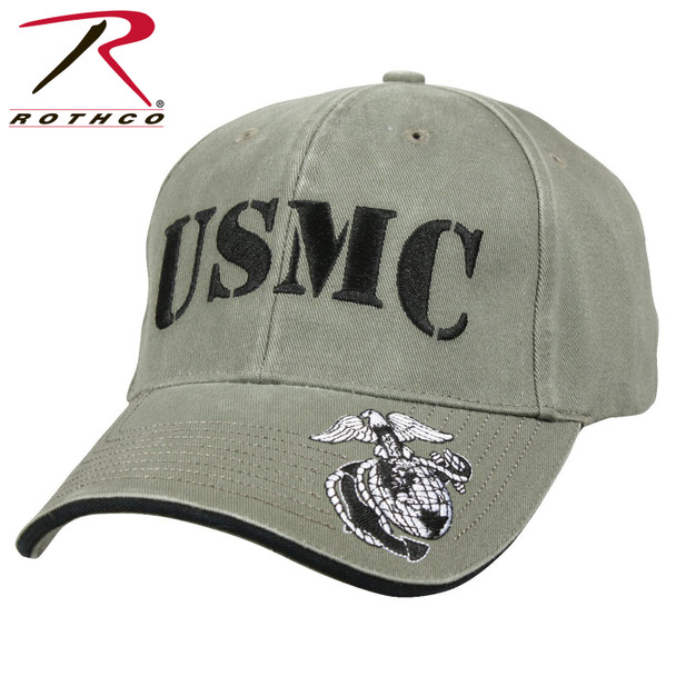 Rothco Deluxe Vintage USMC Cap Embroidered Low Profile (Item #9738)