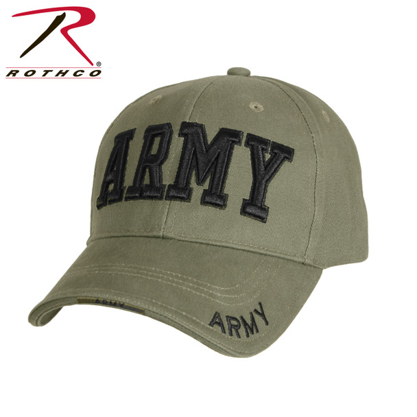 Rothco Deluxe Army Cap Embroidered Insignia Low Profile (Item #9508) - Olive Drab