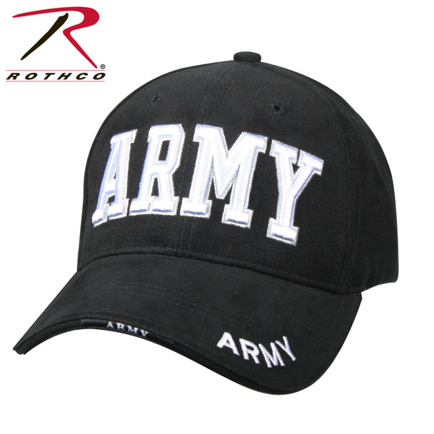 Rothco Deluxe Army Cap Embroidered Insignia Low Profile (Item #9385) - Black