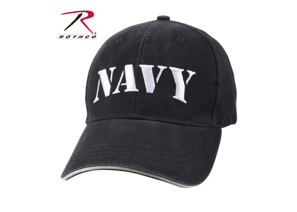 Rothco Navy Cap Embroidered Low Profile Cotton (Item #9881) - Washed Navy Blue