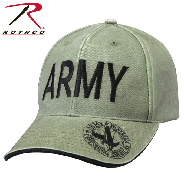 Rothco Deluxe ARMY Cap Embroidered Low Profile (Item #9888) - Olive Drab