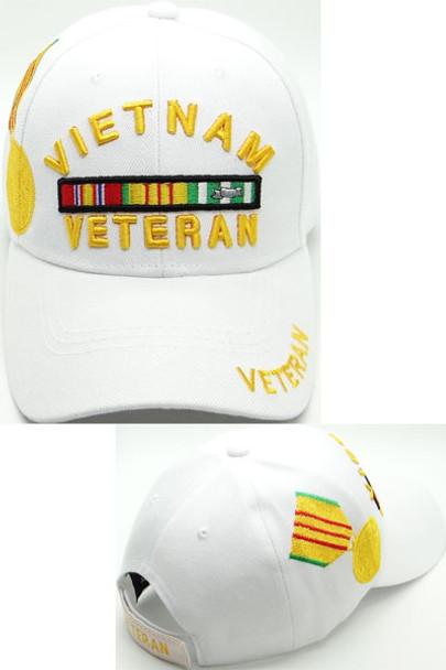 Vietnam Veteran Medal Cap - White