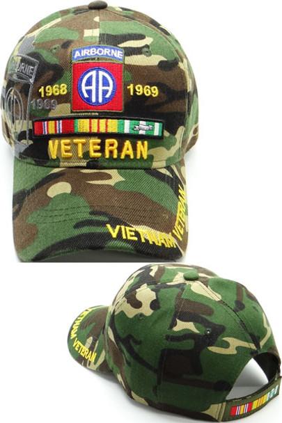 Vietnam Veteran 82nd Airborne Cap Shadow - Woodland Camo