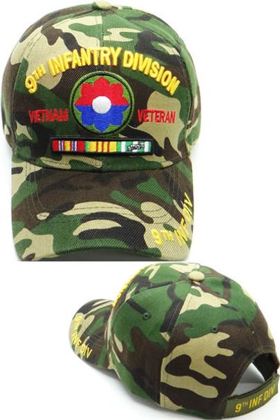 9th Infantry Division Vietnam Veteran Cap - Woodland Camo