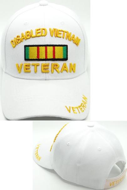 Disabled Vietnam Veteran Cap - White