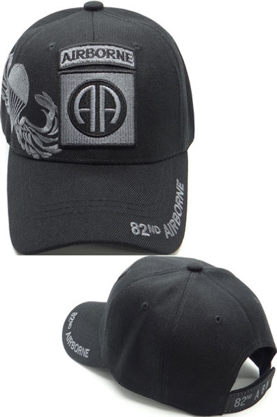 82nd Airborne Division Cap Shadow - Black